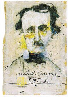 Horst Janssen: 10 portraits: Edgar Allan Poe