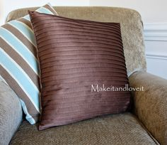 Decorate My Home, Part 14 – Pleated Pillow Covers | Make It and Love It