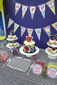 Darling Darleen: Transformer Birthday Party