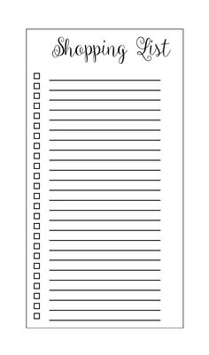 Printable Shopping List pages To Do Planner, Planner Book, Weekly Planner, Life Planner, To Do Lists Printable, Printable Shopping List, Printable Planner, Checklist Template, Planner Template