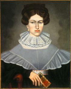 Artist: Salisbury Woman holding book 1835