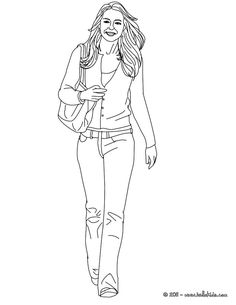 Kate Middleton coloring page. More kate and wiliam content on hellokids.com
