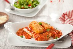Try this Quick Cheesy Chicken Parmesan to get that restaurant taste in the comfort of your own home! #FarmRich