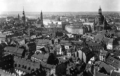 Dresden before the bombing: Regarded as one of the most beautiful of European cities.