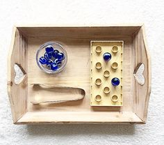 Montessori tray activity                                                                                                                                                                                 Mehr