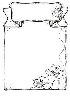 JujoBoro: Oklevél Front Page Design, Page Borders Design, Border Design, Flower Coloring Pages, Colouring Pages, Coloring Books, Borders For Paper, Borders And Frames, Bullet Journal Ideas Pages
