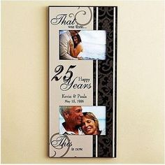Then And Now Anniversary Frame | 40th Anniversary Gifts For Couples, Him, Her
