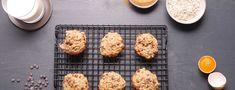 Cookies protéinés aux pépites de chocolat Chocolate Chip Cookies Rezept, Low Carb Cheesecake, Cookies Et Biscuits, Grill Pan, Nutella, Grilling, Sweets, Cooking, Stevia