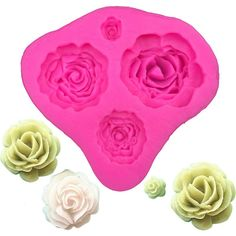 Four Sizes Flowers Silicone Mold