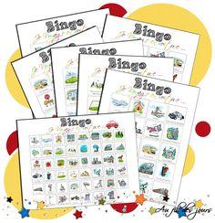 Au fil des jours: .: Un Bingo pour les voyages en voiture :. Free Games For Kids, Diy For Kids, Road Trip Activities, Activities For Kids, Busy Bags, Teaching French, Travel Information, School Classroom, Travel With Kids