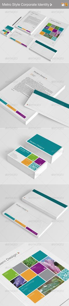Metro Style Corporate Identity - GraphicRiver Item for Sale