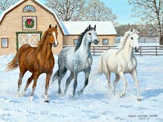 Persis Clayton Weirs / Horses in the Mist / December 2014