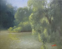 River, Mid-Morning 8 x 10 Oil painting on canvas