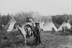 """""""A Cree Camp""""   No date or additional information."""