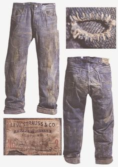circa 1890 True Vintage Levis No 2