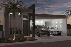 Plano de casa con ambientes integrados Modern Exterior House Designs, Modern House Design, Living Room Plants, Modern Mansion, House Elevation, Facade Architecture, Logs, My House, Building A House