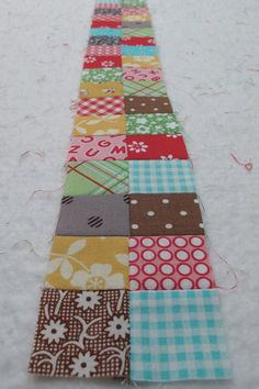 Bee in my Bonnet Row Along - Row One tutorial...an easier way to make four-patch blocks