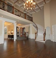 Dream house idea. Curved stair and balcony