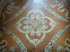 The personal emblem of Lorenzo The Magnificent on the floor of the Laurentian Library in #Florence.