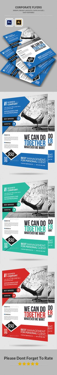 Buy Corporate Business Flyer Template by afjamaal on GraphicRiver. This flyer is made in illustrator photoshop the files included are help file and i. Psd Flyer Templates, Letterhead Template, Business Flyer Templates, Brochure Template, Corporate Flyer, Corporate Business, Corporate Design, Web Design, Flyer Design