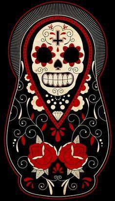Dia De Los Muertos Matryoshka Doll -- My next tattoo