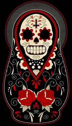 Dia De Los Muertos Matryoshka Doll -- My next tattoo