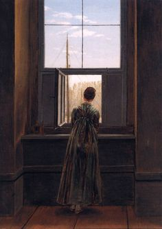 Caspar David Friedrich, Woman at a Window, 1822, Oil on canvas.