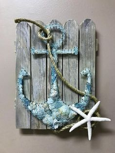 Hand die getrokken en vervaardigde String Art anker gevuld met Panama City Beach… Hand drawn and crafted String Art anchor filled with Panama City Beach Shells and Seaglass. One of a kind and ready to ship. Sand Crafts, Seashell Crafts, Beach Crafts, Paper Crafts, Diy Crafts, Rock Crafts, Homemade Crafts, Garden Crafts, Anchor String Art