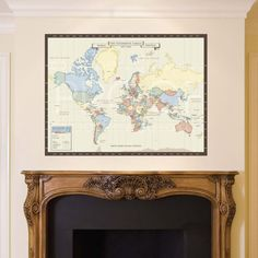 vintage world map canvas is the perfect way to decorate your vintage feeling home! This classic map is a great way to mark all your adventures while looking stylish in your library or study! This antique style map is a classic and will be well loved as both a interactive map and home decor for many years to come!