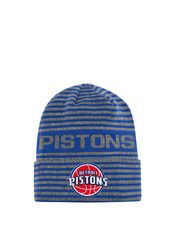 Adidas Detroit Pistons Grey 2016 Team Cuffed Knit Hat
