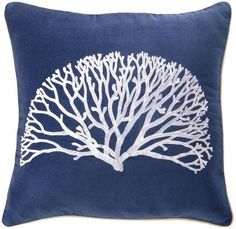 D.L. Rhein Coral Fan Velvet Pillow