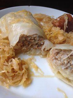 Originales ungarisches Rezept auf deutsch: Kohlrouladen mit Sauerkraut
