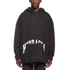Nebraska hoodie sweatshirt from the F/W2016-17 Off-White c/o Virgil Abloh collection in black
