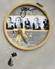 Cercle à broder, papiers, étiquette, breloques, bouton et twine Ephéméria by…