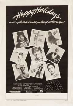 """Seasonal mini-poster for STAR WARS (George Lucas, USA, 1977)  Designer: unknown  Poster source: Film/Art Gallery  """"Rare ad slick/mini poster, sent to theaters still showing Star Wars (which opened in May) during the 1977 holiday season."""""""