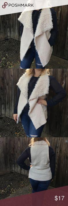 INC furry vest❤️ NWOT INC International Concepts Jackets & Coats Vests