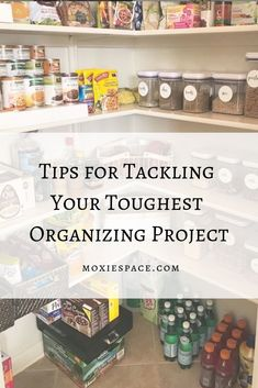 Think like a professional organizer to get your toughest organizing project done already! Organized Mom, Staying Organized, Pantry Organization, Organizing, Pantry Inspiration, Time Management Tools, Toy Bins, Build A Blog, Life Happens