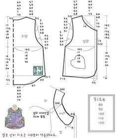 Free pattern kids sleeveless shirt
