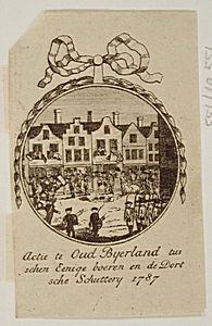Oud-Beijerland 1787.