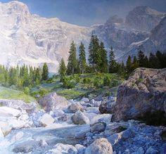 Cuadros Modernos Pinturas : Cuadros Realistas de Bodegones y Paisajes de Saidov Aydemir