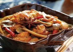 Chicken stewed with mushrooms Steam Recipes, Your Recipe, Mushroom Recipes, Kung Pao Chicken, Ratatouille, No Cook Meals, Poultry, Crockpot Recipes, Stew