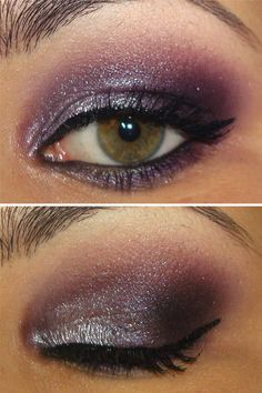 now if i could only manage to rock dark purple eyeshadow without looking like a prize fighter with two black eyes.....