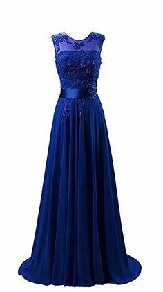 Kmformals Damen Chiffon Langes Party Ballkleid Abendkleid 42 Königsblau