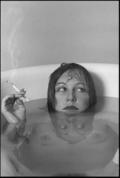 Available for sale from Avant Gallery, Guy Le Baube, Rue Bois-le-vent Archival Pigment Print, 40 × 28 in Nude Photography, Portrait Photography, Fashion Photography, Women Smoking, Girl Smoking, Black White Photos, Black And White, Portraits, Waves