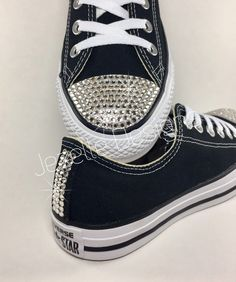 A CLASSIC CRYSTALLIZED! Style  Converse Chuck Taylor All Star Low Canvas  Colors  Black. Rhinestone ConverseBling ... ba6ff8392