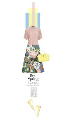 """""""spring..what a lovely time of year"""" by paperdollsq ❤ liked on Polyvore featuring Marni, Jimmy Choo, Topshop, Patrizia Pepe and H&M"""