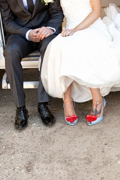 Wow - real bride with awesome Vivienne Westwood and Melissa #LadyDragon shoes!