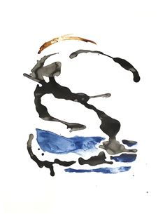 Surfing, abstract - India ink and shellac-based ink on watercolour paper India Ink, Shellac, Watercolor Paper, Surfing, Abstract, Art, Summary, Art Background, Arches Watercolor Paper