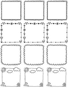 These really cute free printable Doodle Borders for labels are designed by Erin Rippy of InkTreePress. These doodle borders are in fillable and editable PDF templates. Use them as favor labels, shi… Doodle Borders, Page Borders, Borders And Frames, Borders Free, Borders For Paper, Doodle Frames, Doodle Art, Border Templates, Free Label Templates