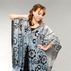 Scroll Flower 7 Way Convertible Scarf   #denim  #convertiblescarf #versatilescarf #jacketscarf #halterback #offshoulder #sari #modest #modestfashion #7wayscarf  7 Way Scarf by M/M Couture Www.7wayscarf.com